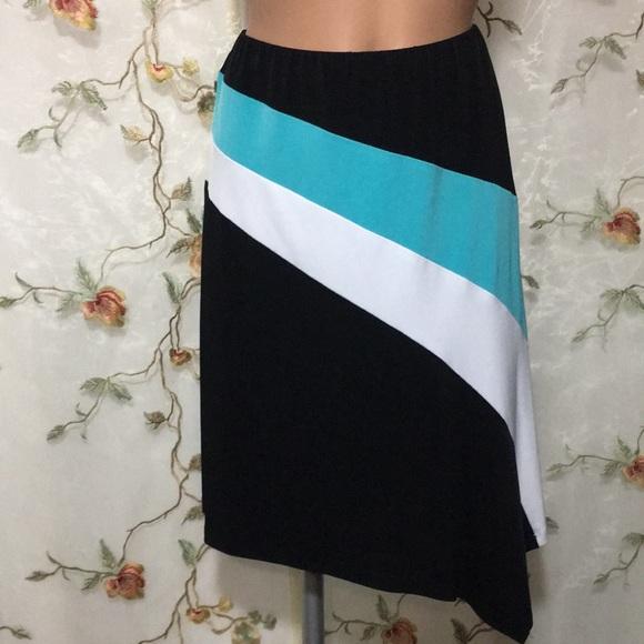 Cache Dresses & Skirts - ✨Caché Asymmetrical Striped Skirt